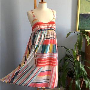 J Crew Colorful Cotton Empire Waist Dress
